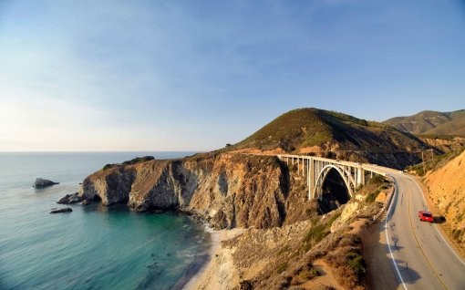 USA, California, Big Sur Pacific Coastline, Bixby Bridge and Highway 1